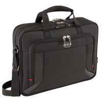 "Wenger/SwissGear laptoptas: PROSPECTUS 16"" Laptop Briefcase with Tablet / eReader Pocket, Black - Zwart"
