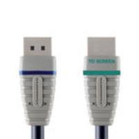 Bandridge 2m, DP/HDMI - Zwart