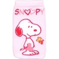 J-Straps mobile phone case: Peanuts - Socke Snoopy in love - Roze