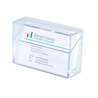 Sigel visitekaarthouder: Box voor visitekaartjes - Transparant