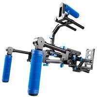 Walimex tripod: pro DSLR Rig Hand & Shoulder Rig RL-03 - Zwart, Blauw