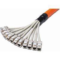 Digitus netwerkkabel: 8.0m Cat7 S-FTP RJ-45 - Grijs, Oranje
