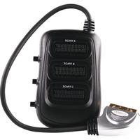 Schwaiger video distributor: SCART plug (21-pin.) > 3 SCART sockets (21-pin.) - Zwart