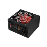 HKC power supply unit: 550W, ATX2.2, 75%, 3x Molex, 4x SATA, Floppy, black/red - Zwart, Rood