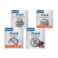 ZyXEL software licentie: iCard Service-Bundle 1Y, AV/AS/CF/IDP, f/ USG210