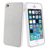 Muvit mobile phone case: Glitter case, Apple iPhone 5s/se, 40g, silver - Zilver