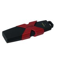 Hyperx USB flash drive: 64GB - Zwart, Rood
