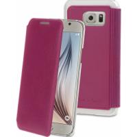 Muvit mobile phone case: Wallet Case voor de Samsung Galaxy S6 (roze)