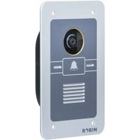 Robin video intercom system: SmartView SIP WA, 5 Megapixel IP camera, 640×480, IEEE 802.3af - Aluminium, Grijs