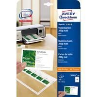 Avery Zweckform Business Cards 85 x 54 Quick & Clean 10 Sheets Visitiekaart