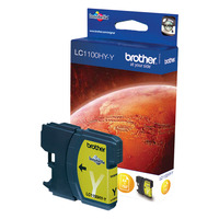 Brother inktcartridge: LC-1100HYY  Ink Cartridge - Geel