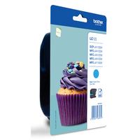 Brother inktcartridge: Blauwe inkt voor 600 pagina's - Cyaan