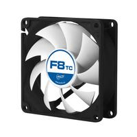 ARCTIC Hardware koeling: F8 TC 3-Pin Temperature-controlled fan with standard case - Zwart, Zilver