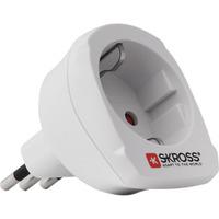 Skross Landadapter Europa naar Italië Stekker-adapter - Wit