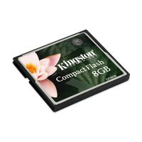 Kingston Technology flashgeheugen: 8GB CF Card - Multi kleuren