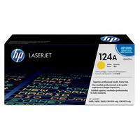 HP cartridge: 124A originele gele LaserJet tonercartridge - Geel