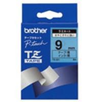 Brother labelprinter tape: Gloss Laminated Tape - 9mm, Black/Blue
