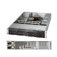 Supermicro server barebone: SuperServer 6028R-WTR - Zwart