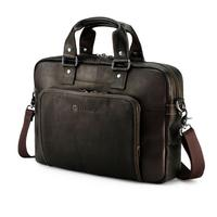 HP laptoptas: Elite Top Load Colombian Leather Case,  12.5''/14'' - Bruin