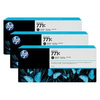 HP inktcartridge: 771C matzwarte DesignJet inktcartridges, 775 ml, 3-pack - Mat Zwart