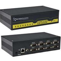 Brainboxes seriele server: Ethernet naar seriele RS422/485 adapter. Aantal poorten: 8 x RS-422/485. Eenh. 1 stk
