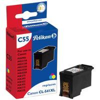 Pelikan inktcartridge: C55 - Cyaan, Magenta, Geel