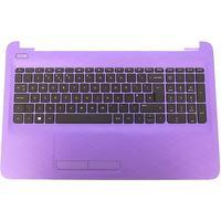 HP notebook reserve-onderdeel: Top Cover & Keyboard (UK English) - Zwart, Paars