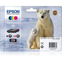 Epson inktcartridge: Multipack 4-colours 26 Claria Premium Ink - Zwart, Cyaan, Magenta, Geel