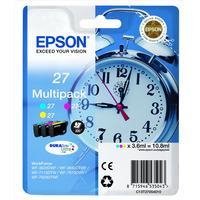 Epson inktcartridge: 27 DURABrite Ultra Multi-pack - Cyaan, Magenta, Geel