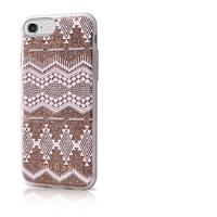 GUESS mobile phone case: Tribal 3d Effect Tpu Cover For Iphone 7, Back / Taupe