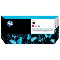 HP printkop: 81 magenta DesignJet printkop en printkopreiniger voor kleurstofinkt