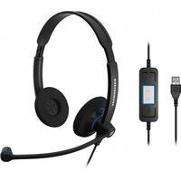 Sennheiser headset: SC 60 USB CTRL - Zwart
