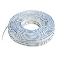 Valueline signaal kabel: 2 x 1.00mm, 100m, White - Wit