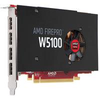 AMD videokaart: FirePro W5100 4GB - Zwart, Rood