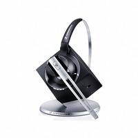 Sennheiser headset: DW 10 USB Office - Zwart, Geborsteld staal