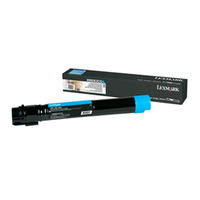 Lexmark toner: X950, X952, X954 tonercartridge cyaan met extra hoog rendement