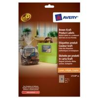 Avery Brown Kraft Product Labels Etiket - Bruin