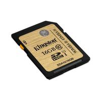Kingston Technology flashgeheugen: SDHC/SDXC Class 10 UHS-I 16GB - Zwart, Bruin