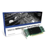 Matrox videokaart: The low-profile Millennium P690 LP PCIe x16 128MB offers DualHead® support for two digital or .....