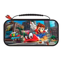 Bigben Connected portable game console case: Officiële Nintendo Switch travelcase met Super Mario Odyssey - Muntkleur