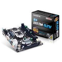 Gigabyte moederbord: Intel H81 Express, 2 x DDR3 DIMM, 2 x SATA 6Gb/s, 2 x SATA 3Gb/s, PCIe, Gigabit Ethernet, 7.1-ch, .....