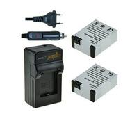 Jupio batterij: Lithium-ion, 1200mAh, 220V, 2x batterie AHDBT-302 - Zwart, Wit