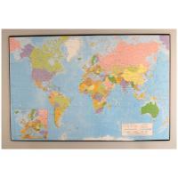 Staples bureaulegger: Bureaulegger SPLS wereldkaart 41x62,5cm