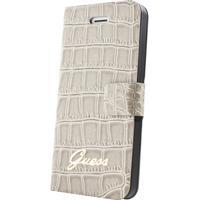 GUESS mobile phone case: iPhone 5 bookcase met krokodillenprint - beige