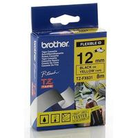 Brother labelprinter tape: Gloss Laminated Flexibel tape - Blauw