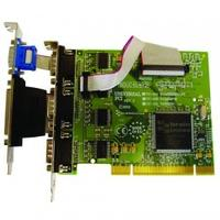 Brainboxes interfaceadapter: 4 x RS232, 9 Pin (M), 1 x LPT, PCI 3.0 - Groen