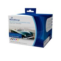 MediaRange inktcartridge: ink cartridges, for Epson® T0711 - T0714 series, with chip, Set 5 - Zwart, Cyaan, Magenta, .....