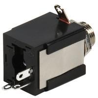 Valueline kabel connector: Jack Stereo Female 6.35mm, Black - Zwart