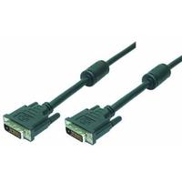 LogiLink DVI kabel : 5m DVI-D - Zwart