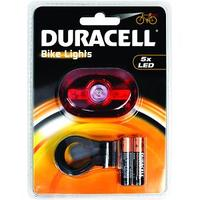 Duracell zaklantaarn: 5 LED Rear Bicycle Light - Rood